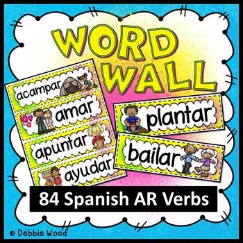 Spanish Regular AR Verbs Word Wall