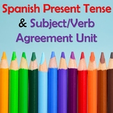 Spanish Regular Present Tense Verbs Unit - Subject Pronouns, Colors, Ser & Estar