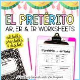 Spanish Preterite Worksheets - EDITABLE - Distance Learning