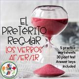 Spanish Regular Preterite Practice and Test