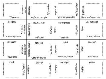 Spanish Regular Preterite Verb Form Puzzle Activity