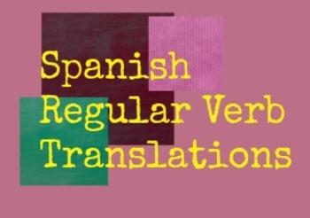 Spanish Regular Verb Translations