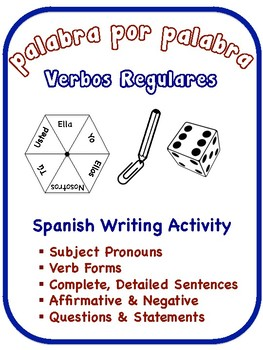 Spanish Regular Verb Writing Activities (6 Versions)