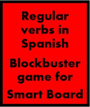 Spanish Regular Verbs Blockbuster game for Smartboard