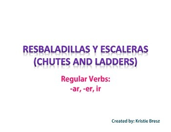Spanish Regular Verbs Chutes and Ladders