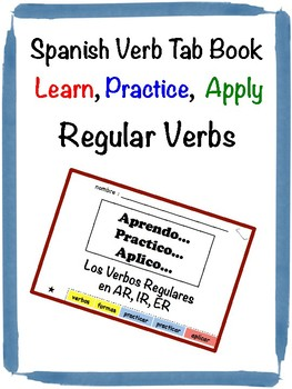 Spanish Regular Verbs Tab Book