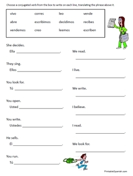 Ideas Collection Spanish Ar Verb Conjugation Worksheets For Your ...