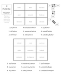 Spanish Regular and Irregular Preterite Activities- 7 Pages
