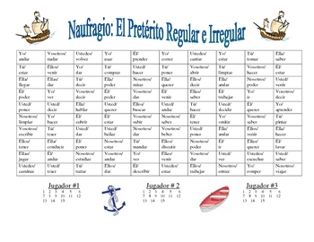 Spanish Regular and Irregular Preterite Activity (Naufragio)
