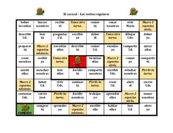 Spanish Regular Verbs Caracol Snail Game