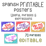 Spanish Rejoinder / Useful Phrases Posters - Printable