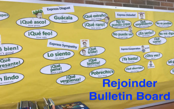 Spanish Rejoinders Word Wall Labels