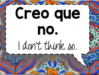 Spanish Rejoinders Posters - 42 high-frequency phrases!