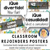 Spanish Rejoinders Posters (Llama Design) - 40 phrases!