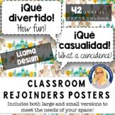 Spanish Rejoinders Posters (Llama Design) - 40 phrases!