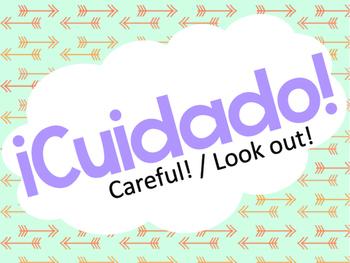 Spanish Rejoinders Posters - Printable w/Pastel tribal designs
