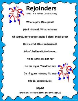 Spanish Rejoinders Song