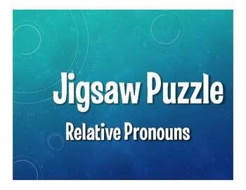 Spanish Relative Pronoun Jigsaw Puzzle