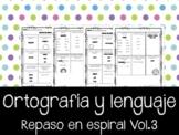 Ortografía en Español.   REPASO en espiral Vol.3