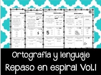 Ortografía en Español. REPASO en espiral Vol.1