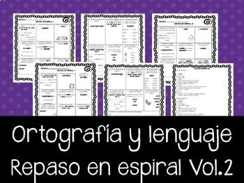 Ortografía en Español. REPASO en espiral Vol.2