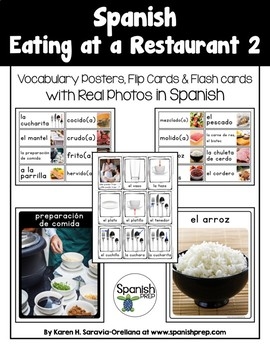 Spanish Restaurant 2 Vocabulary Posters & Flashcards with Real Photos