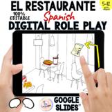 Spanish Restaurant Food Digital Vocabulary: EL RESTAURANTE