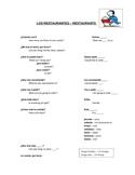 Spanish Restaurant Notes & Worksheet