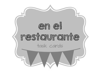Spanish Restaurant Task Cards