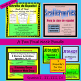 Spanish Review Materials - A Fun Final Week for Spanish I, II, III, IV