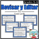 Spanish Revise and Edit Task Cards *Revisar y Editar*