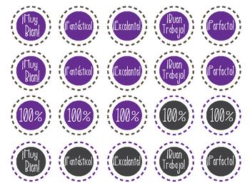 Spanish Reward Stickers