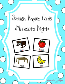 Spanish Rhyme Cards - Extended Pack