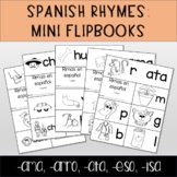 Spanish Rhymes: Mini flip-books (-ama, -arro, -ata, -eso, isa)
