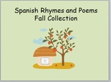 Spanish Rhymes for Fall PPT and Cards Combo