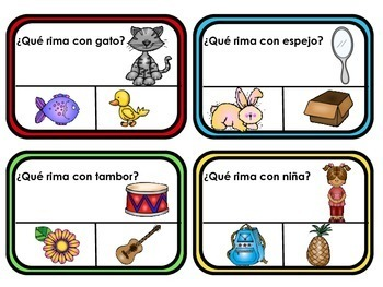 Spanish Rhyming Clip Cards