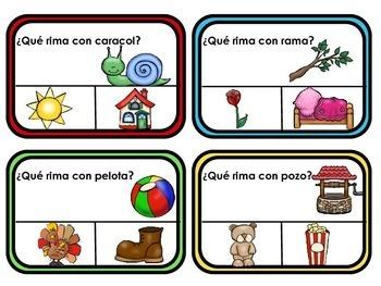 Spanish Rhyming Clip Cards