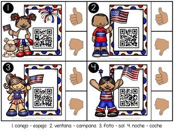 Spanish: Rhyming QR Code Station