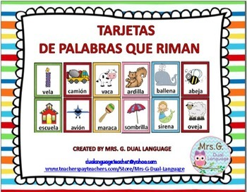 Spanish Rhyming Rimas Bundle