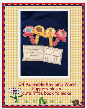 Spanish Rhyming Word Puppets