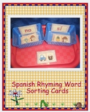 Spanish Rhyming Word Sorting Cards
