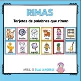 Rimas: Tarjetas de palabras que riman Spanish Rhyming Cards