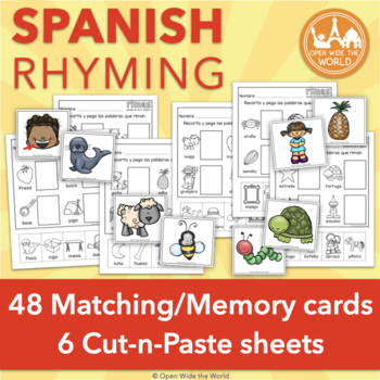 Spanish Rhyming Words las rimas for Dual Language