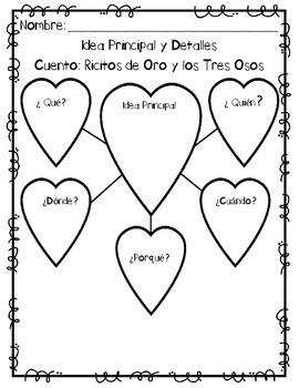 In Spanish {Ricitos de Oro y los tres Osos}