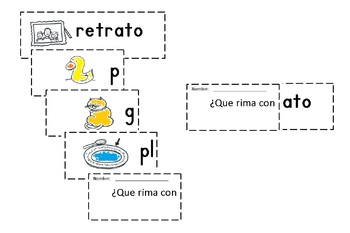 Spanish Rimas Flip-able booklet with -ATO c-scope common core
