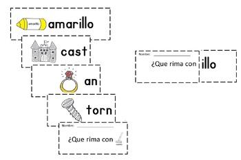 Spanish Rimas Flip-able booklet with -ILLO c-scope common core