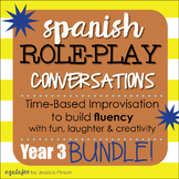 "Spanish Role-Play Conversations - ""Situaciones"" Year 3 BUNDLE!!"