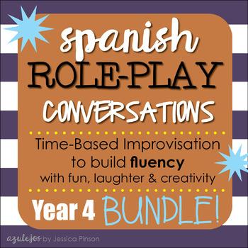 "Spanish Role-Play Conversations - ""Situaciones"" Year 4 Bundle!!!!"