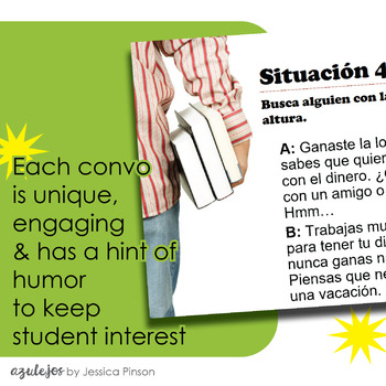 "Spanish Role-Play Conversations - ""Situaciones"" Year Introduction Activity"