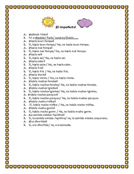 Spanish Teaching Resources. Role Play - The Imperfect Tense.
